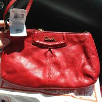 Coach 48103 Ashley Leather Large Wristlet Cherry Nwt Photo