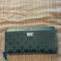 Coach 49983 Black Madison Op Art Accordion Zip Around Wallet  Photo