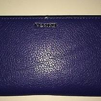 Coach 50233 Madison Skinny Wallet in Leather Lacquer Blue Photo