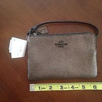 Coach 52444b Small Pebbled Metallic Leather Wristlet Photo