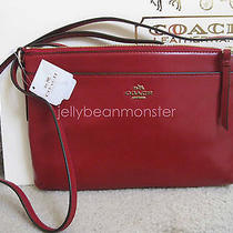 Coach 52638 Smith Leather East West Swing Pack Crossbody Bag Red New Tag Photo