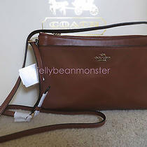 Coach 52638 Smith Leather East West Swing Pack Crossbody Bag Saddle Brown New Photo