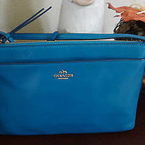 Coach 52638 Smith Leather East West Swingpack Teal Nwt Photo