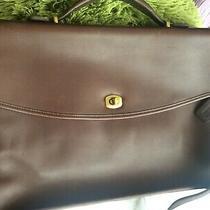 Coach 5265 Briefcase Laptop Messenger Bag Brown Leather Unisex 9.5 X 15.5 Euc Photo