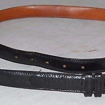 Coach 5301 New York City Black Leather Brass Buckle Belt Sz. 36 / 90 Cm Photo