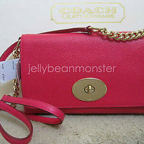 Coach 53083 Crosstown Pebble Leather Crossbody Bag Purse Pink Ruby New Photo