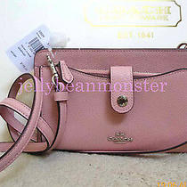 Coach 53529 Leather Pop-Up Pouch Messenger Crossbody Bag Purse Peony Pink New Photo