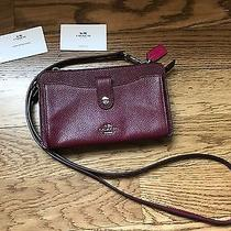 Coach 53529 Messenger With Pop-Up Pouch in Pebble Leather Burgundy/cerise  Photo