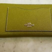 Coach 54007 Citron Gold Zip Around Wallet Photo