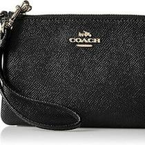 Coach 57768 Crossgrain Small Wristlet - Black Photo