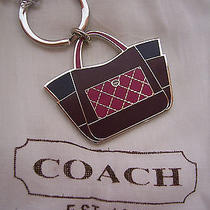 Coach 66661 Parker Color Block Purse Handbag Key Ring Chain Nwt & Bag/box Photo