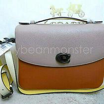 Coach 69524 Cassie Colorblock Leather Crossbody Shoulder Bag Purse Ginger Multi Photo