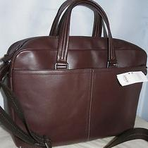 Coach 70707 Lexington Leather Commuter/ Laptop Briefcase Mahogany New With Tag Photo