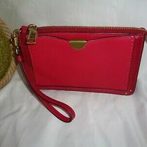 Coach 73956 Dreamer Wristlet Clutch Handbag Bright Cherry Smooth Leather Handbag Photo