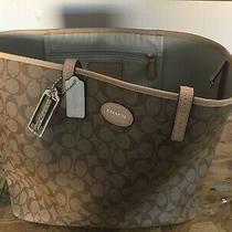 Coach 76636 Town Tote Purse Shoulder Handbag - Brown Photo