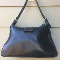 Coach 7783 Hamptons Soho Black Leather Medium Hobo Shoulder Bag Photo