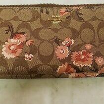 Coach 78020 Floral Double Zip Wallet Wristlet  Photo