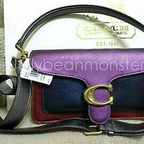Coach 79344 Tabby Colorblock Leather Shoulder Bag 26 Purse Multicolor New Photo