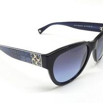 Coach 8045 5107/17 (L041 Joelle) Women Sunglasses Black Blue/blue Gradient O2 Photo