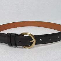 Coach  8400 Made in Usa Navy Leather Belt Solid Brass Buckle Womens Size Small Photo