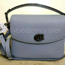 Coach 88346 Cassie Leather Crossbody Shoulder Bag Purse Crossbody Bluebell Blue Photo