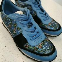Coach 9.5 Blue and Black Floral Women's Sneakers Photo