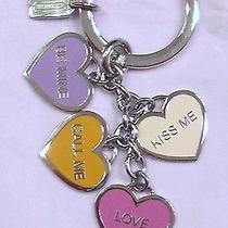 Coach 92064 Poppy Conversation Hearts Keyfob Charmenamalshow Your Lovehearts Photo