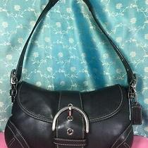 Coach 9247 Authentic Carry Bag Shoulder Bag Purse Handbag Black Leather Photo