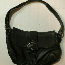 Coach 9248 Signaturen Black Buckle Front Purse Handbag Photo