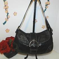 Coach 9248 Vintage Black Leather Soho Shoulder Bag - Vguc Photo