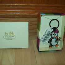 Coach 93014 Leather Penguin Key-Ring Bnwt Photo