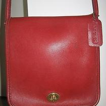 Coach 9620 Vintage Cross Body Flap Made in Usa Leather Messenger Bag Purse Photo