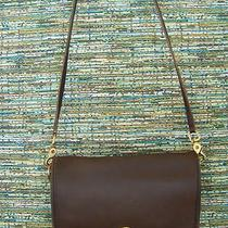 Coach 9755 Brown Leather Flap Purse Shoulder Bag With Hang Tag Photo