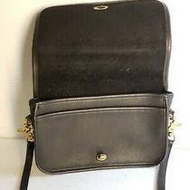 Coach 9755 - F4d Brass Turn-Lock  Dark Brown Leather Crossbody/shoulder Bag  Photo