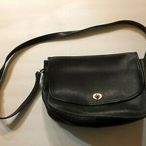 Coach 9790 City Black Classic Crossbody Shoulder Bag Leather Purse Photo