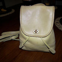 Coach 9960 Green Leather Backpack Purse Bag Photo