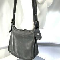 Coach 9966 Janice Legacy Shoulder Bag Black Vintage Leather Purse Hobo Photo