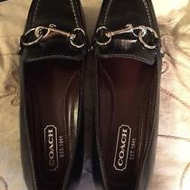 Coach A2170  Dorie Black Leather Loafers/flats/driving Shoes in Size 5.5m. Euc Photo