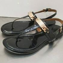 Coach A7799 Caterine Black Patent Leather Strappy Thong Sandal Size Us 6 B Shoes Photo