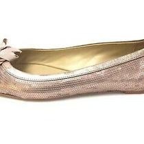 Coach Abigail Blush-Pink Sequined Jeweled Bow Ballet Flats Shoes Sz 7 B Photo