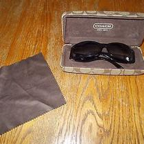 Coach Abigale S431 Sunglasses- Black With Case  Photo