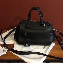 Coach Ace Satchel in Black Glovetanned Leather Photo