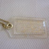 Coach  Acrylic Clear Gold  Gliter Xl  Key Chain Fob  Charm Hang Tag  New W/o Tag Photo