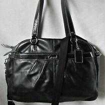 Coach Addison Black Leather Diaper Business Multifunction Bag 18374 Photo