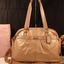 Coach Addison Champagne Leather Laptop Business Diaper Bag Travel Satchel   548 Photo