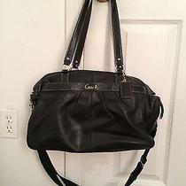 Coach Addison Dune Black Leather Diaper Baby Bag Multifunction Tote Photo