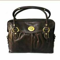 Coach Addison Textured Brown Spectator Leather Laptop /tote Bag 13207 Photo