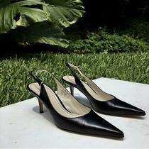 Coach Alena Slingback Black Leather Heels Photo