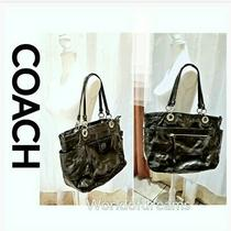 Coach Alex Black Xl Bag Tote Diaper Laptop Patent Leather B1103 14800 Photo