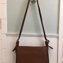 Coach All Leather Vintage Brown Shoulder Bag  Photo